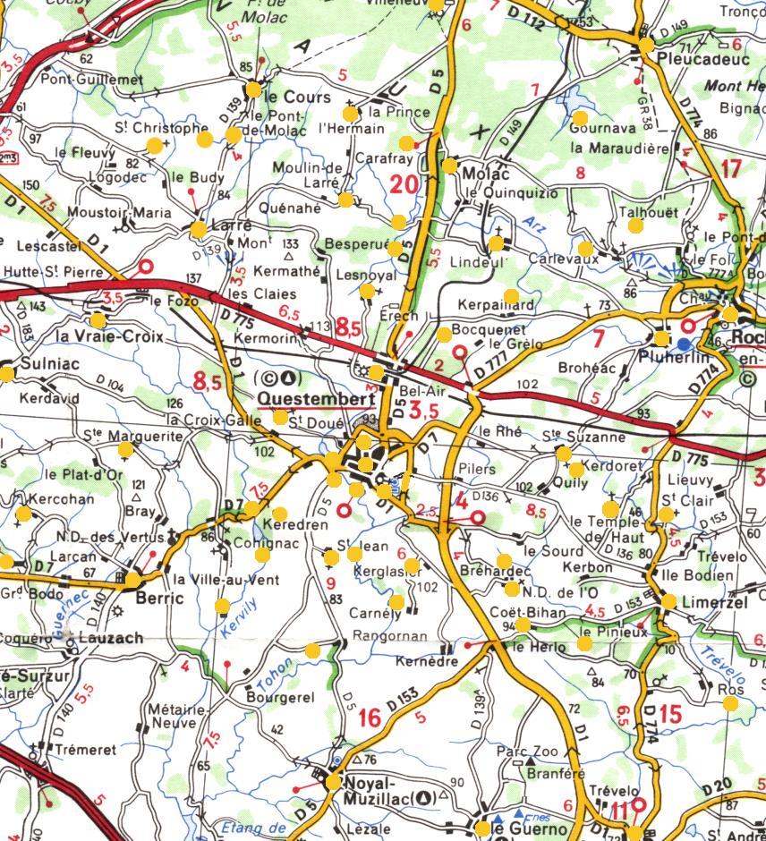 Carte Bretagne Questembert.Images De Questembert